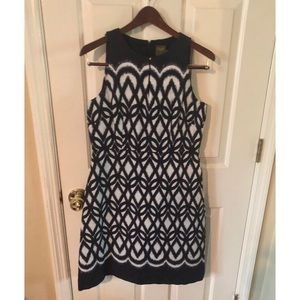 Taylor Pattern Black and White Dress